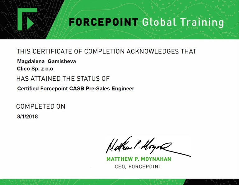ForcePoint CASB
